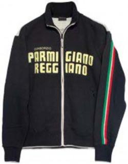 Felpa nera cotone Parmigiano Reggiano